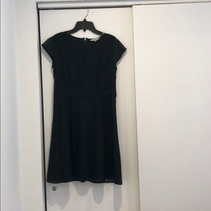Loft GREEN Lace Dress 6p